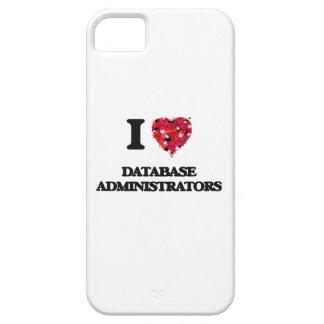Amo a administradores de base de datos iPhone 5 Case-Mate funda