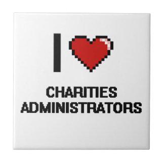 Amo a administradores de las caridades azulejo cuadrado pequeño