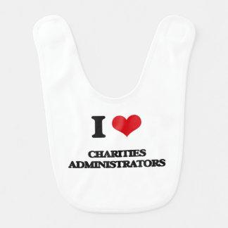 Amo a administradores de las caridades baberos