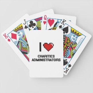 Amo a administradores de las caridades baraja de cartas