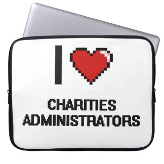 Amo a administradores de las caridades funda portátil