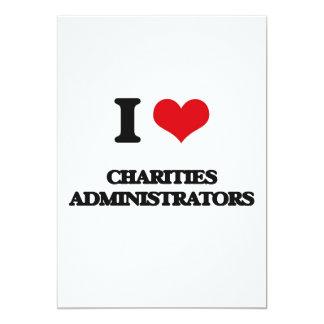 Amo a administradores de las caridades invitación 12,7 x 17,8 cm
