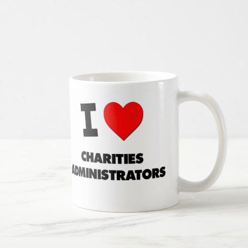 Amo a administradores de las caridades tazas de café