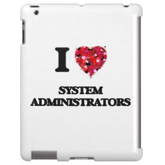 Amo a administradores de sistema funda para iPad