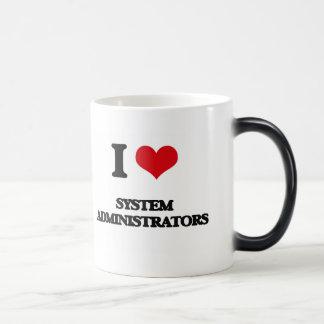 Amo a administradores de sistema tazas
