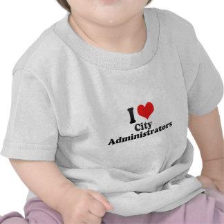 Amo a administradores municipales camisetas