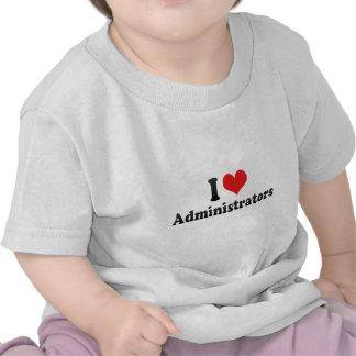 Amo a administradores camisetas