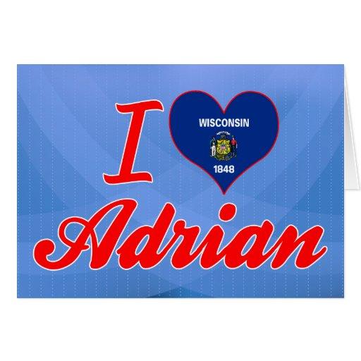 Amo a Adrian, Wisconsin Felicitaciones