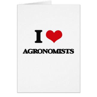 Amo a agrónomos tarjeton