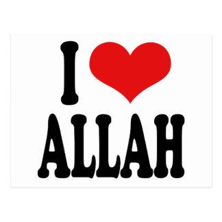 Amo a Alá Tarjeta Postal
