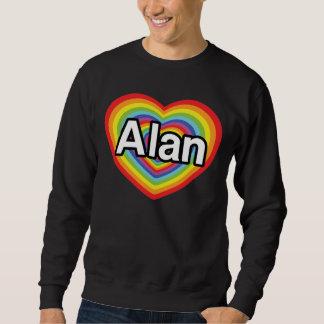 Amo a Alan, corazón del arco iris Jersey