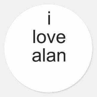Amo a Alan Pegatina Redonda