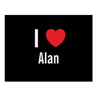 Amo a Alan Tarjetas Postales