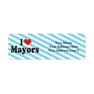 Amo a alcaldes etiqueta de remitente