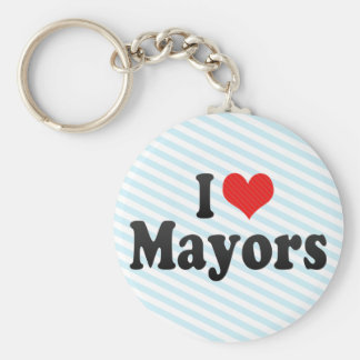 Amo a alcaldes llavero redondo tipo pin