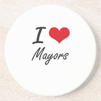 Amo a alcaldes posavasos para bebidas