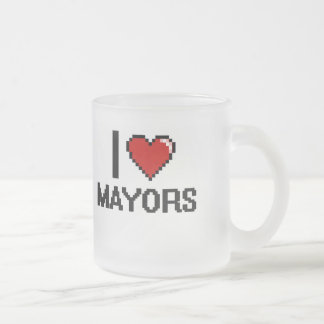 Amo a alcaldes taza cristal mate