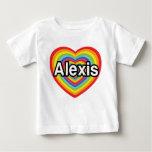 Amo a Alexis, corazón del arco iris Playera