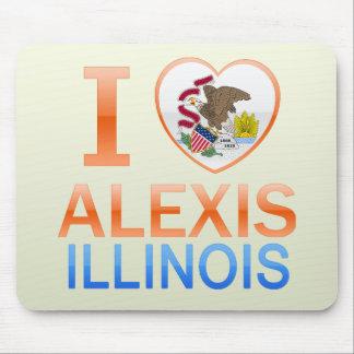 Amo a Alexis, IL Alfombrillas De Ratón