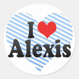 Amo a Alexis Pegatina Redonda