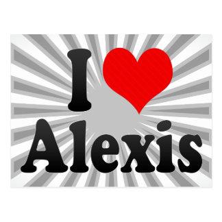 Amo a Alexis Tarjetas Postales