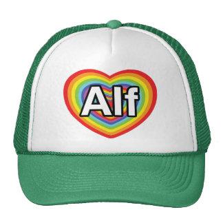 Amo a Alf, corazón del arco iris Gorro De Camionero