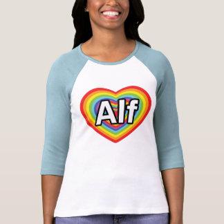 Amo a Alf, corazón del arco iris Tshirt