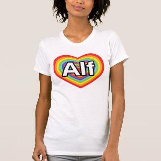Amo a Alf, corazón del arco iris Playera