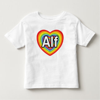 Amo a Alf, corazón del arco iris Tshirts