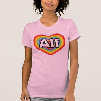 Amo a Alf, corazón del arco iris T Shirt