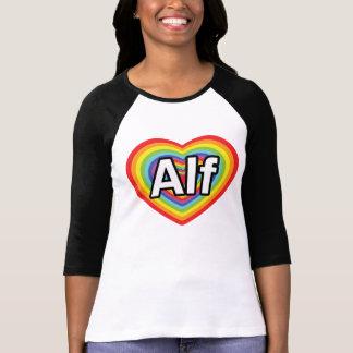 Amo a Alf, corazón del arco iris Camiseta