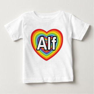 Amo a Alf, corazón del arco iris Playera De Bebé