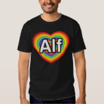 Amo a Alf, corazón del arco iris Remera