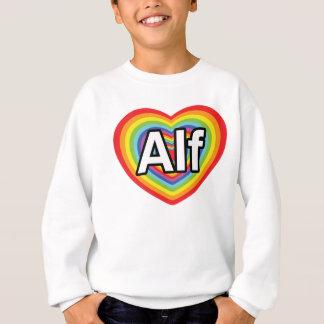 Amo a Alf, corazón del arco iris Sudadera