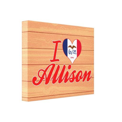 Amo a Allison, Iowa Impresiones En Lona