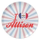 Amo a Allison, Iowa Plato De Cena