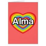 Amo a Alma, corazón del arco iris Tarjeta