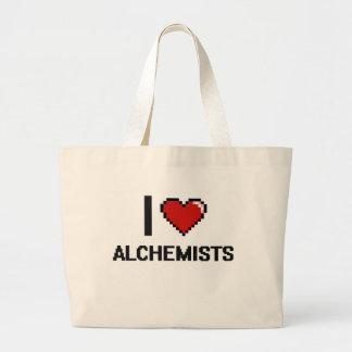 Amo a alquimistas bolsa tela grande