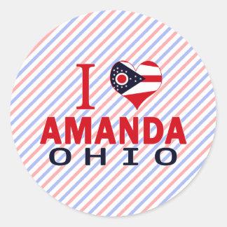 Amo a Amanda Ohio Pegatina Redonda
