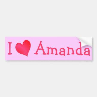 Amo a Amanda Pegatina Para Auto