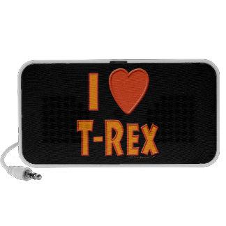 Amo a amantes del dinosaurio de Rex del Tyrannosau Altavoz De Viajar