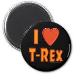 Amo a amantes del dinosaurio de Rex del Tyrannosau Iman De Frigorífico