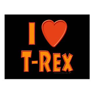Amo a amantes del dinosaurio de Rex del Tyrannosau Postal
