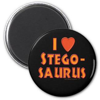 Amo a amantes del dinosaurio del Stegosaurus Imán Redondo 5 Cm