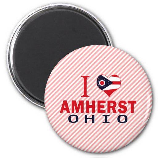 Amo a Amherst, Ohio Imán Para Frigorifico