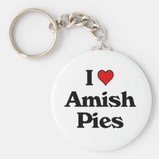 Amo a Amish Pies.jpg Llavero Redondo Tipo Pin