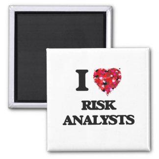 Amo a analistas del riesgo imán cuadrado