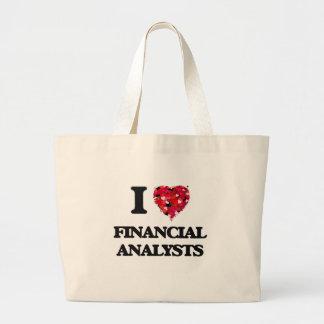 Amo a analistas financieros bolsa tela grande
