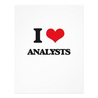 Amo a analistas flyer a todo color