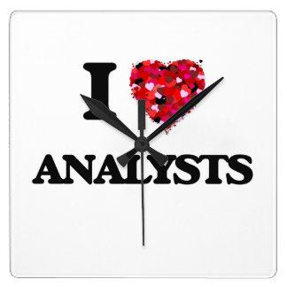 Amo a analistas reloj cuadrado